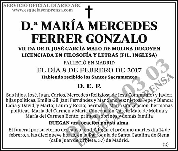 María Mercedes Ferrer Gonzalo